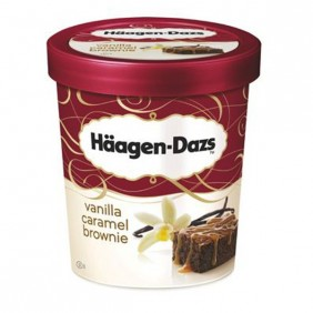 Glaces Haägen Dazs 500 ml - Vanilla caramel brownie